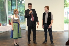 Dorothea Schiffmann, Gernot Raab, Christoph Schreieder (von li. nach re.), Brauermeisterschaft in der Berufsschule für Brauwesen in München 2018