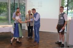 Dorothea Schiffmann, Matthias Zellner, Detlev Stegbauer, Dr. Andreas Brandl, Lennart Dege (von li. nach re.), Brauermeisterschaft in der Berufsschule für Brauwesen in München 2018