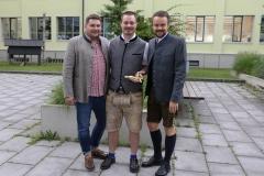 Matthias Ertl (Mitte), Brauermeisterschaft in der Berufsschule für Brauwesen in München 2018